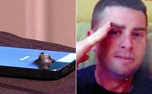 """iPhone 5s """"hứng"""" bom, cứu người thoát chết trong gang tấc"""