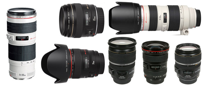 Phân loại ống kính Canon theo mục đích sử dụng