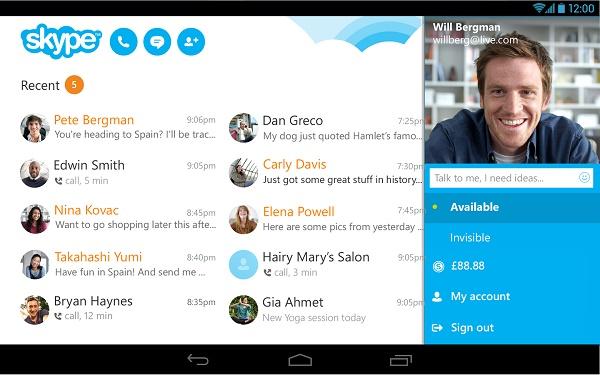 Cập nhật Skype để dế Android đỡ tốn pin