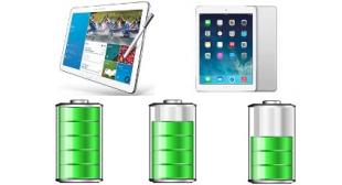 iPad Air xếp sau Galaxy NotePRO trong bảng xếp hạng pin tablet