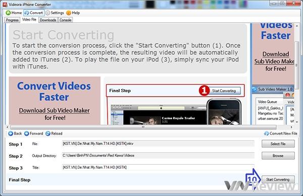 Chuyển đổi phim cực nhanh để xem trên iPhone/iPad