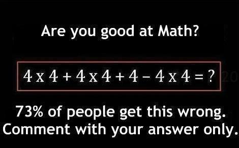 Câu đố toán học khiến cộng đồng Facebook điên đảo