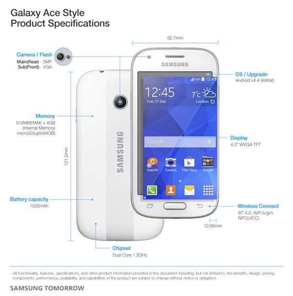 Samsung Galaxy Ace Style ra mắt làng Smartphone