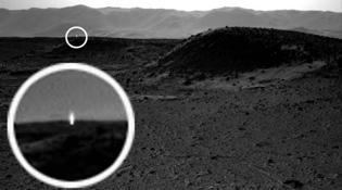 Đốm sáng trên sao Hoả: người ngoài hành tinh là có thật?