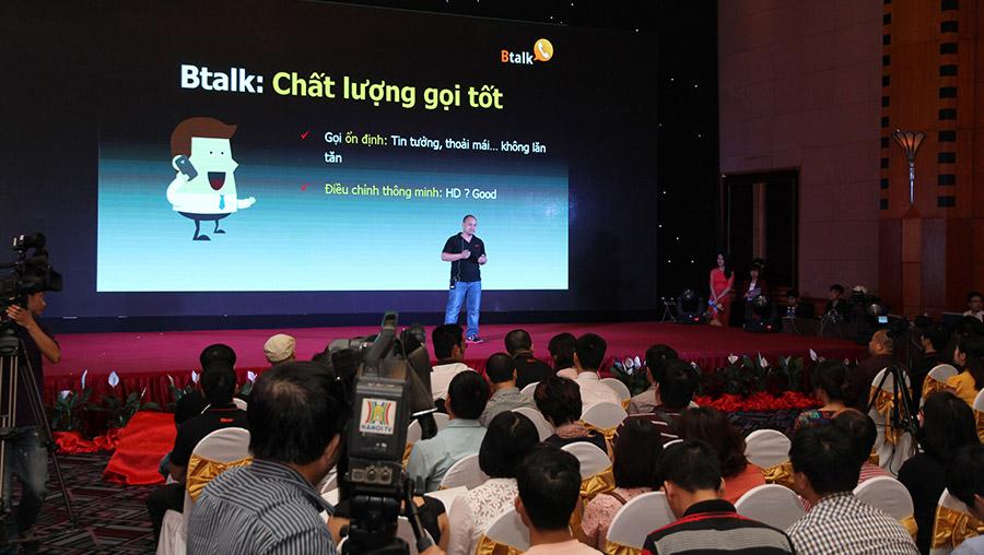 Truyền hình trực tuyến lễ ra mắt ứng dụng nhắn tin gọi điện miễn phí Btalk