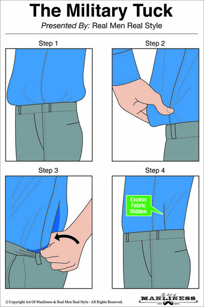 Bỏ áo trong quần đúng cách