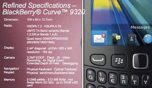 Thông số BlackBerry Curve 9320