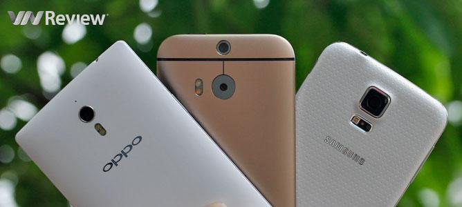 8 tính năng thú vị trên Galaxy S5, One M8 và OPPO Find 7a