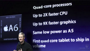 Lộ cấu hình iPad 3: chip 4 lõi và LTE