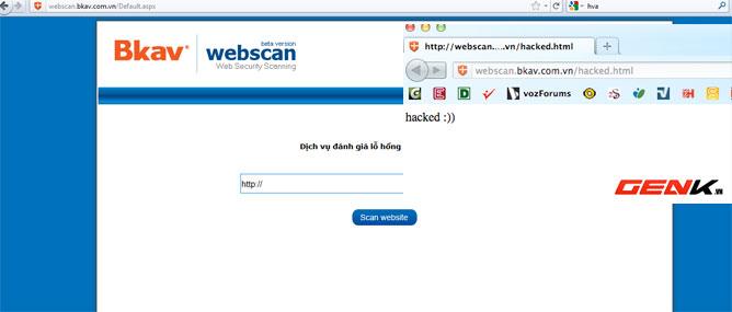 Bkav thưởng nóng cho người báo lỗ hổng WebScan