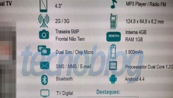 Hình ảnh thực tế đầu tiên của Moto E - smartphone giá hấp dẫn từ Motorola