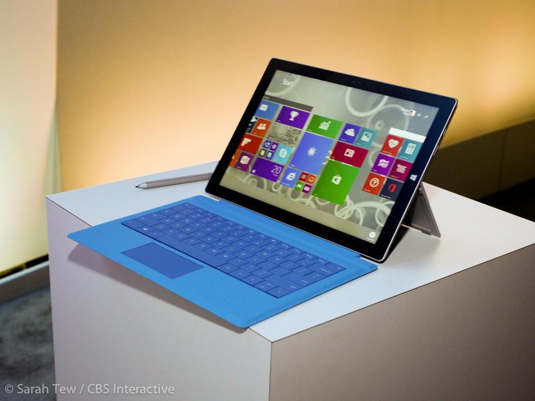Với màn hình 12 inch, Surface Pro 3 là sản phẩm tablet lớn nhất mà Microsoft từng tạo ra. Ở mức giá khởi điểm 800 USD, đây là lựa chọn tuyệt vời nhất cho những người cần 1 chiếc tablet lai laptop.