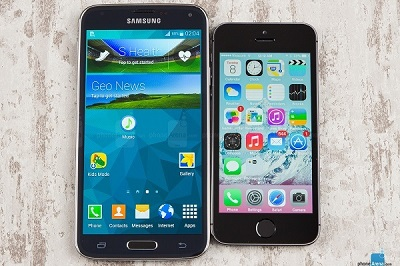 """iPhone đánh bại Galaxy S5, One M8 tại Mỹ trong """"mùa Android"""""""