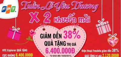 Mua 1 tặng 2 tại FPT Shop dịp Valentine