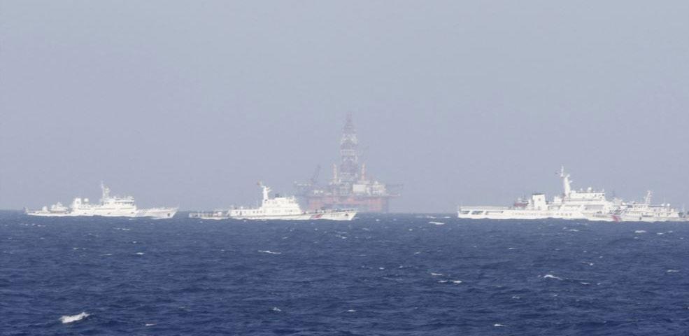 Giàn khoan Hải Dương 981 hạ đặt trái phép ở vùng biển Việt Nam
