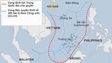 Đường chín đoạn của Trung Quốc chiếm trọn 75% biển Đông