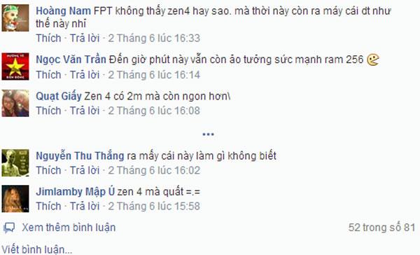 Phản hồi trên Facebook về cặp điện thoại FPT mới ra mắt