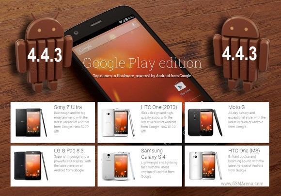 Android 4.4.3 sẽ có mặt trên Moto X, G, E, DROID và các smartphone Google Play Edition