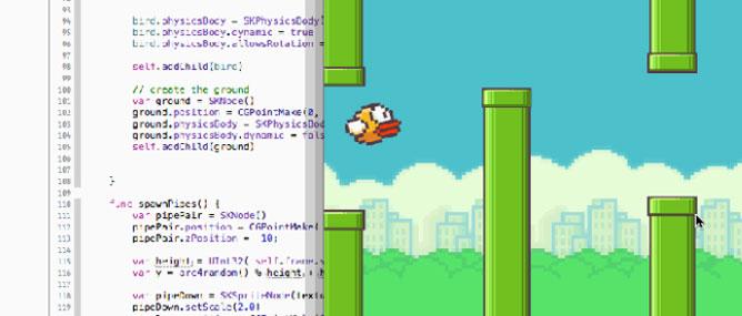 Flappy Bird đầu tiên được viết bằng ngôn ngữ Swift