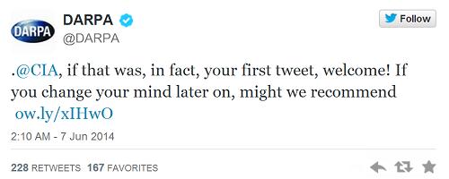 CIA đã gia nhập Twitter?