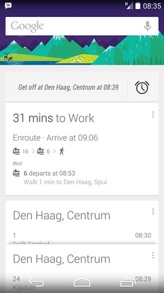 """Google Now có thêm tính năng """"nhắc"""" xuống tàu xe khi đến bến"""