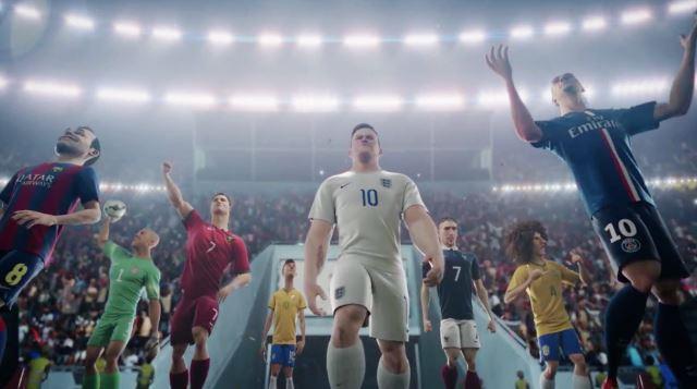 Xem các sao World Cup 2014 tranh tài qua quảng cáo của Nike