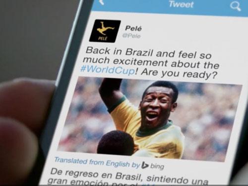 Huyền thoại Pelé cũng vào Tweet để chào đón World Cup 2014 Nguồn: ADWEEK