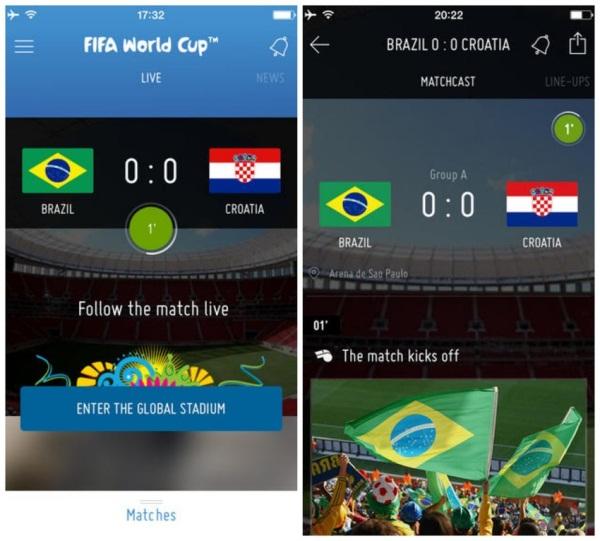 5 ứng dụng giúp bạn sống trọn từng giây cùng World Cup 2014