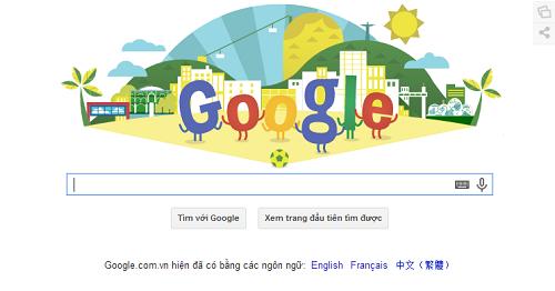 Google Doodle chào mừng World Cup