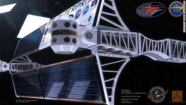 Ngắm concept tàu vũ trụ có tốc độ bay nhanh hơn cả ánh sáng của NASA