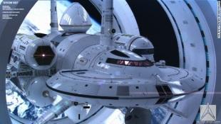Concept tàu vũ trụ có tốc độ nhanh hơn ánh sáng