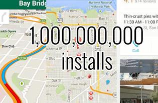 Google Maps cho Android đã có 1 tỷ lượt tải