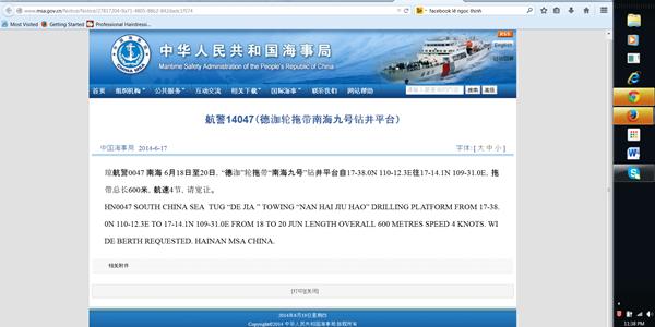 Trung Quốc đưa giàn khoan thứ 2 Nam Hải vào nam Vịnh Bắc Bộ