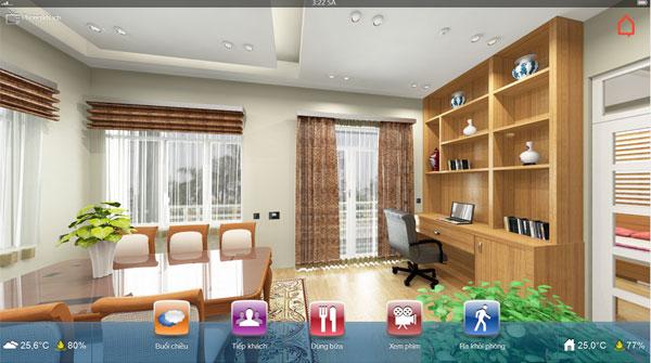 Giao diện app Bkav SmartHome