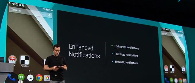 Google công bố Android L: giao diện mới, cải thiện hiệu suất và thời lượng pin