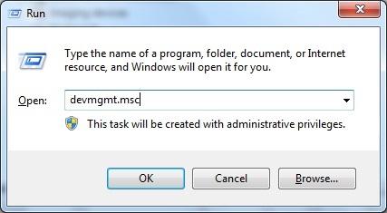 Mở Device Manager thì bị báo lỗi mmc