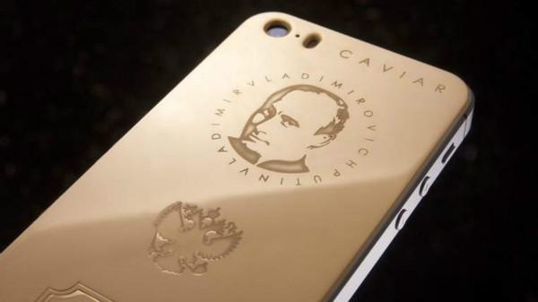 """iPhone mạ vàng, khắc chân dung tổng thống Putin, giá """"khủng"""""""