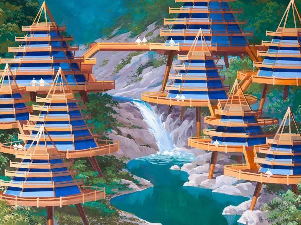 Ngắm tổ hợp kiến trúc siêu tưởng do Triều Tiên thiết kế