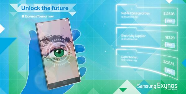Galaxy Note 4 võng mạc bảo mật quét Samsung