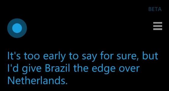cortana world cup dự đoán tỉ số