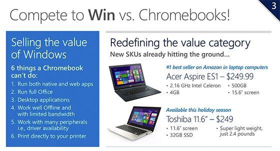 Microsoft: sẽ có laptop Windows giá rẻ để cạnh tranh Chromebook vào cuối năm nay