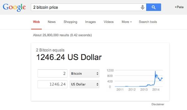 Google cho phép đổi tiền tệ sang Bitcoin và ngược lại
