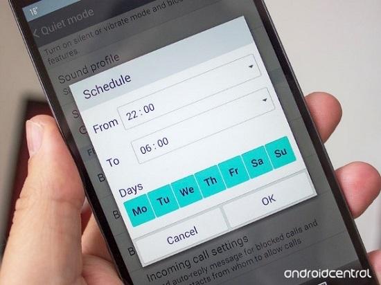 Sử dụng Quiet Mode (Chế độ im lặng) trên LG G3