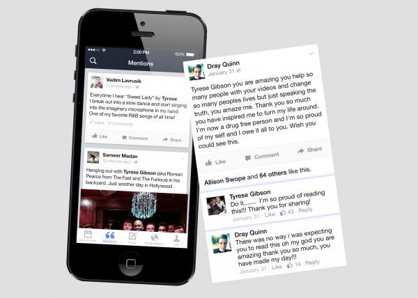 Facebook mentions người nổi tiếng