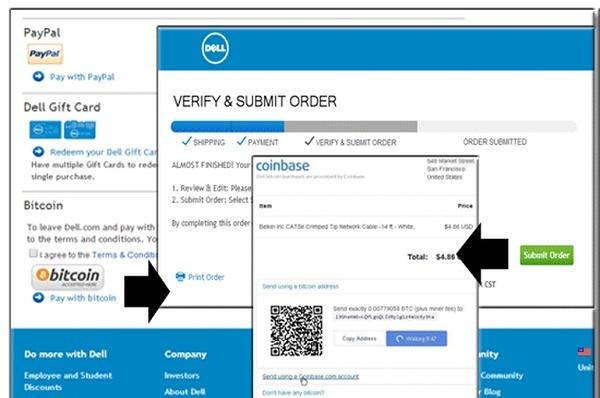 Dell cho phép thanh toán bằng Bitcoin
