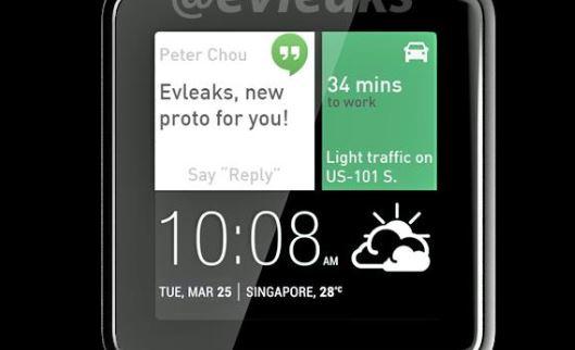 Rò rỉ smartwatch chạy Android Wear đầu tiên của HTC?