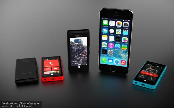 Concept Lumia 330, smartphone Windows Phone mang dáng dấp Nokia X