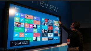 """""""Trên tay"""" Windows 8 với màn hình cảm ứng 82 inch"""