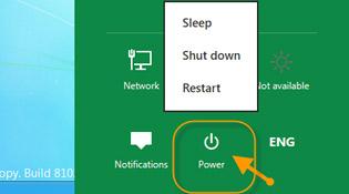 Các cách tắt máy trong Windows 8