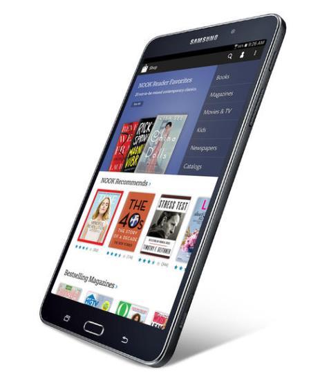 Samsung Galaxy Tab 4 nook barnes noble đọc sách